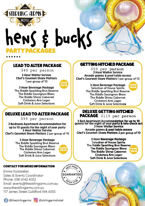 Hens & Bucks Parties